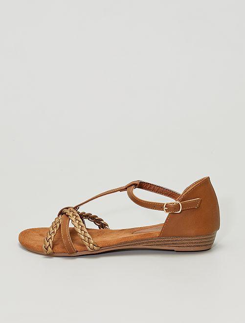 Sandalias de material sintético                                         bronce