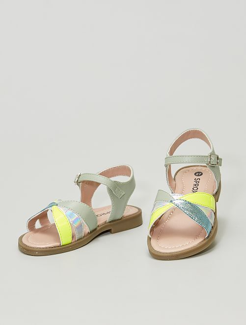 Sandalias de material sintético                             KAKI