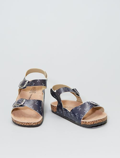 Sandalias de piel                             azul navy