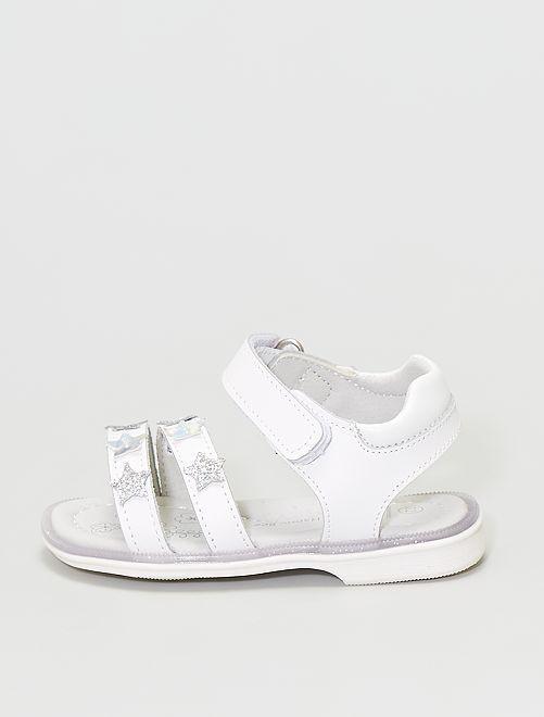 Sandalias de piel                             blanco