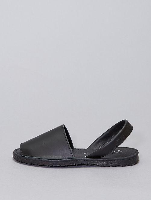 Sandalias de piel                             negro