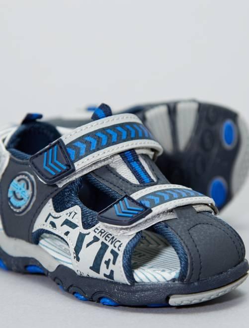 Sandalias de piel sintética                             azul
