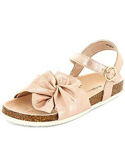 Sandalias de piel sintética con brillos - Kiabi