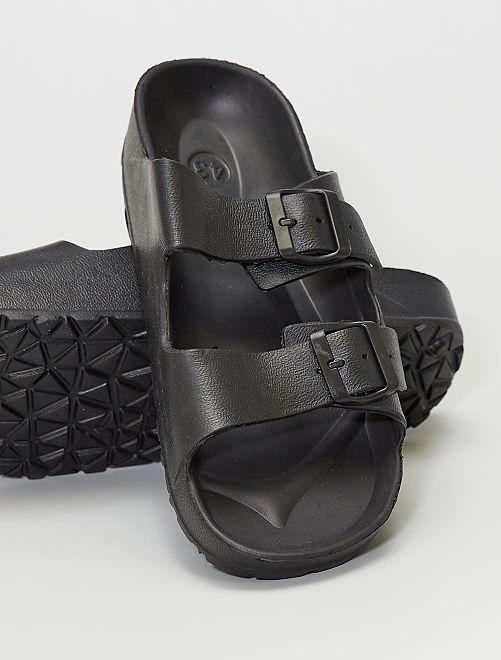 Sandalias de plástico                             NEGRO