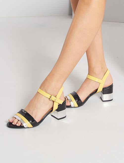Sandalias de tacón                             amarillo