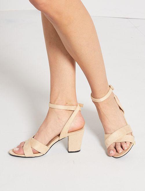 Sandalias de tacón                                         BEIGE