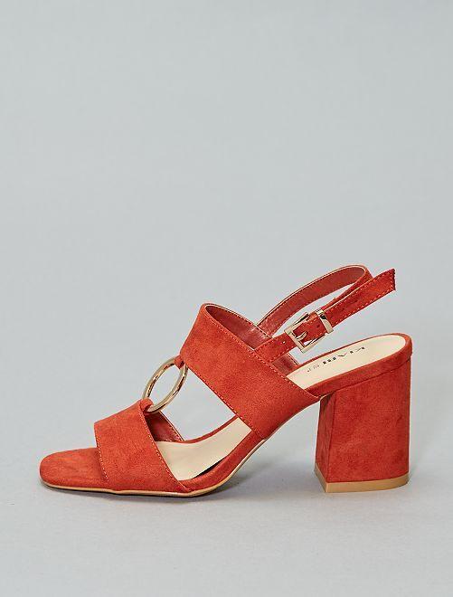 Sandalias de tacón con anilla                                         óxido Zapatos