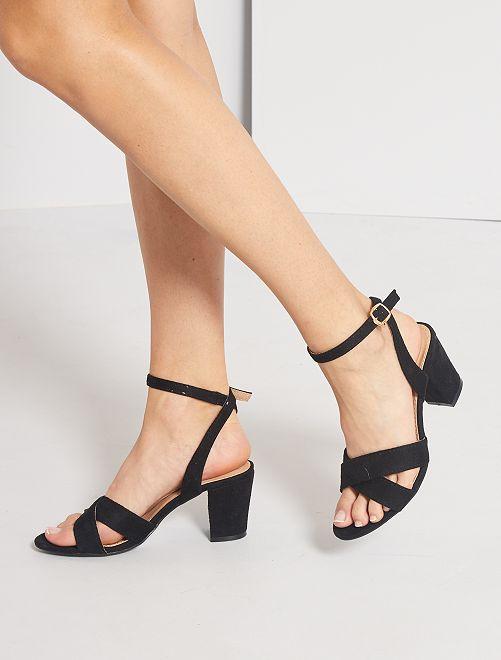 Sandalias de tacón                                         negro