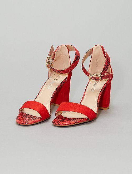 Sandalias de tacón                                         rojo