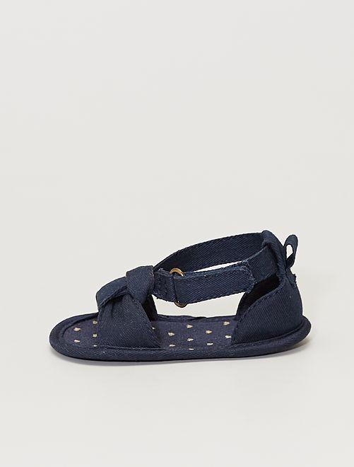Sandalias de tela                                         AZUL