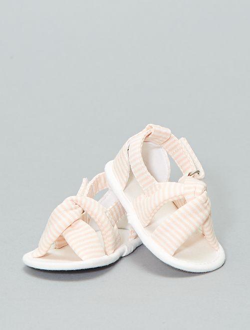 Sandalias de tela                             BLANCO Bebé niña