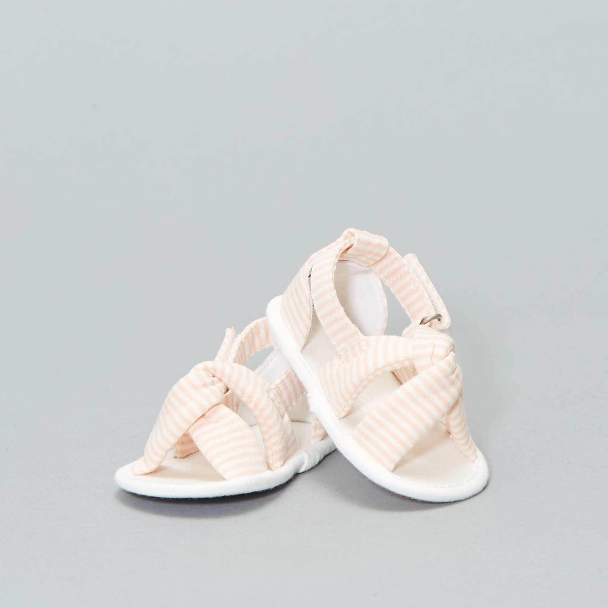 279cfc9f Sandalias de tela Bebé niña - BLANCO - Kiabi - 6,00€