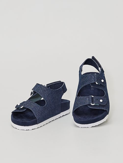 Sandalias de tela                             denim