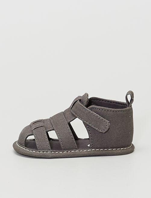 Sandalias de tela                                         gris oscuro