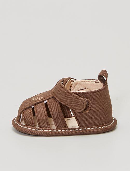Sandalias de tela                             MARRON