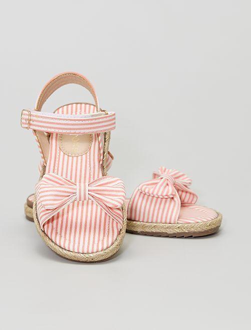 Sandalias de tela                             ROSA