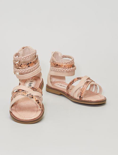Sandalias de varios materiales                             beige