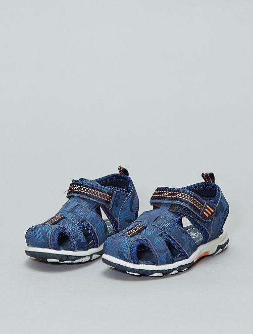 6698e1144 Sandalias deportivas con velcro Bebé niño - azul navy - Kiabi - 15