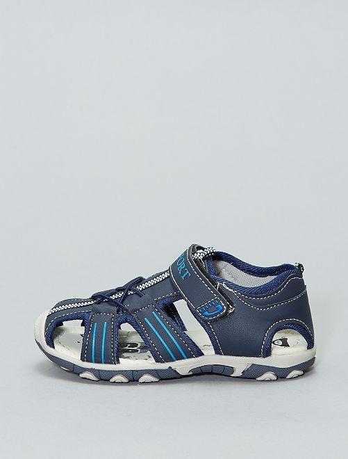 Sandalias deportivas con velcro                             azul navy Chico