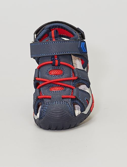 Sandalias deportivas con velcros                             AZUL