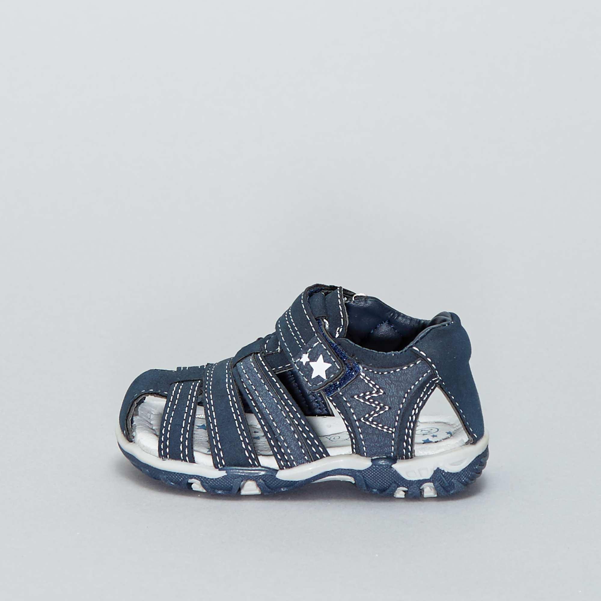 6c42052a152d7 Sandalias deportivas con velcros Bebé niño - azul navy - Kiabi - 20