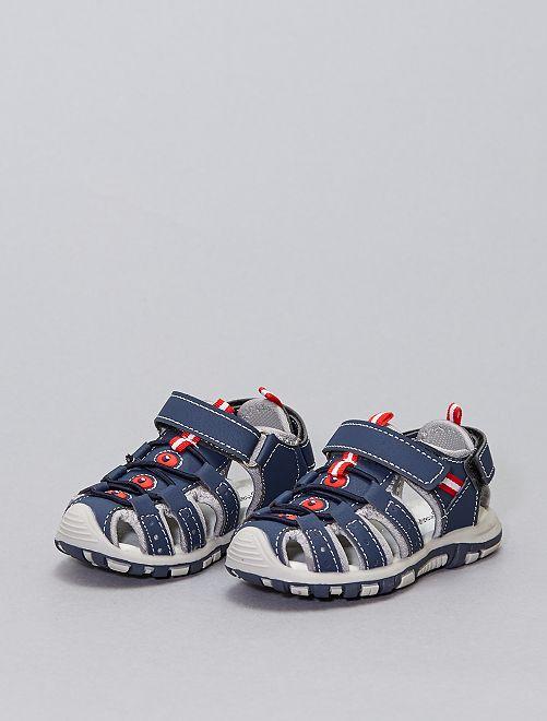 Sandalias deportivas con velcros                             azul navy