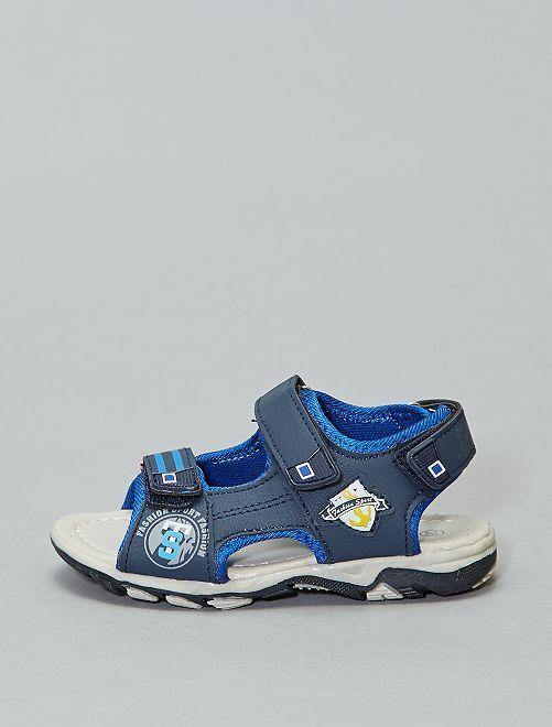 Sandalias deportivas con velcros                             azul navy Chico