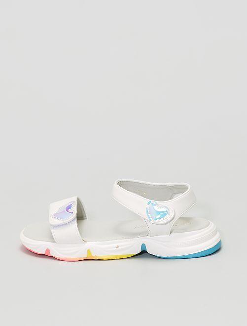 Sandalias deportivas con velcros                             blanco
