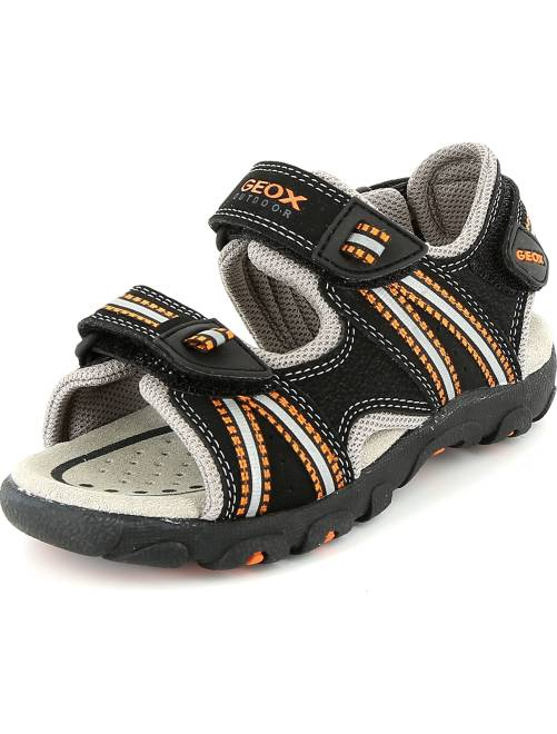 Sandalias deportivas de piel sintética                             NEGRO Chico