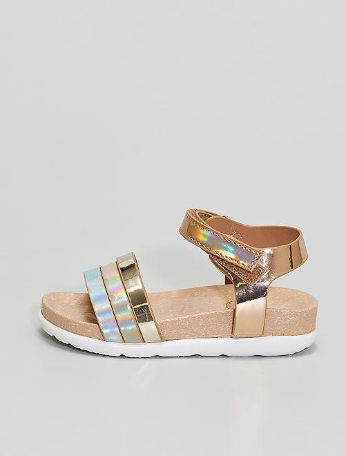 Sandalias doradas                             BEIGE