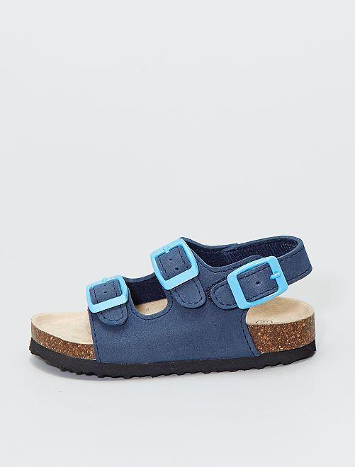 Sandalias estilo anatómico                                         azul