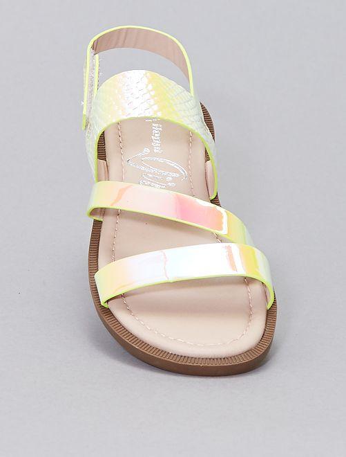 Sandalias iridiscentes                             BEIGE