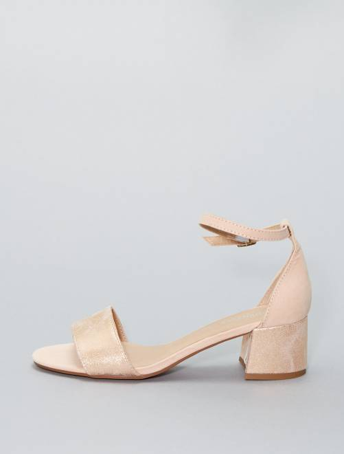 Sandalias irisadas de tacón                                         ROSA Mujer talla 34 a 48