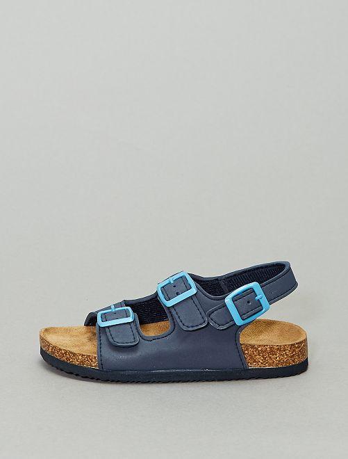 Sandalias lisas                             azul