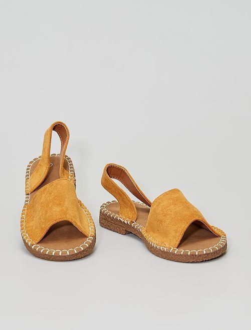 Sandalias menorquinas de antelina                                         BEIGE