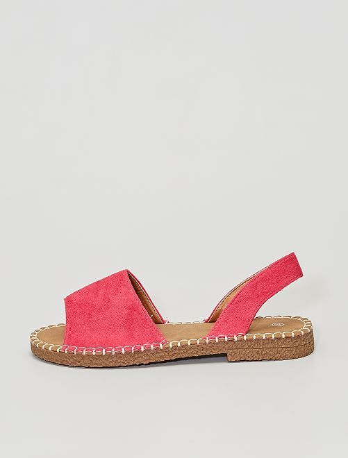 Sandalias menorquinas de antelina                                         ROSA