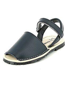 Sandalias menorquinas de piel - Kiabi