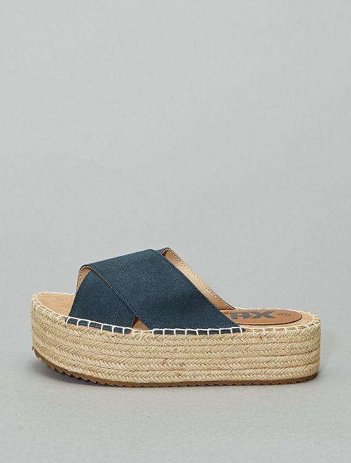 Sandalias mule de cuero 'Xti'                                                                 azul navy