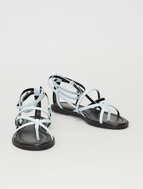 Sandalias planas                                                     azul