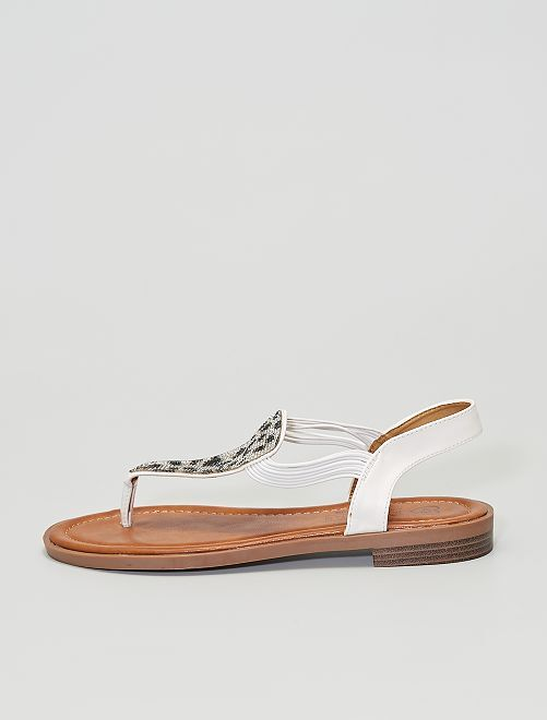 Sandalias planas                             blanco