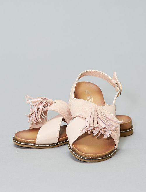 Sandalias planas con borlas                                         rosa Mujer talla 34 a 48
