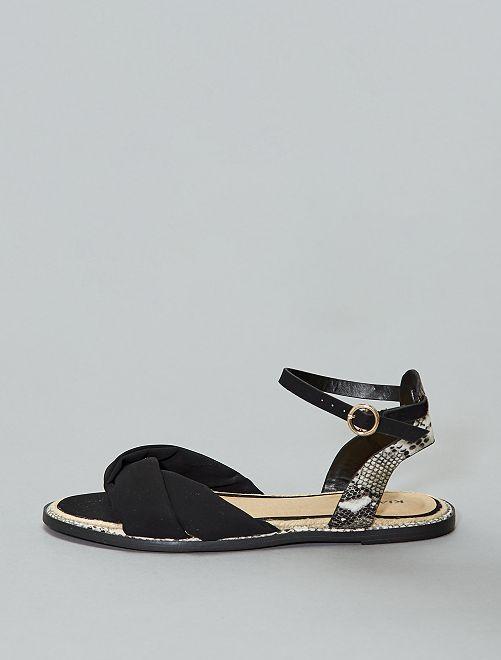 Sandalias planas                             negro Mujer talla 34 a 48