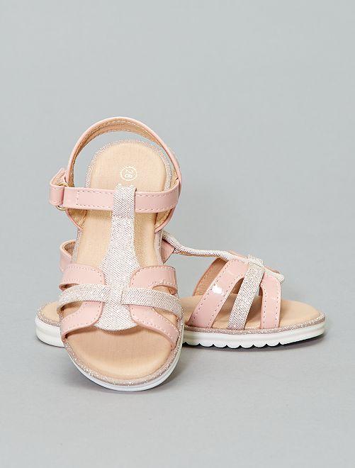 Sandalias planas                             rosa Chica