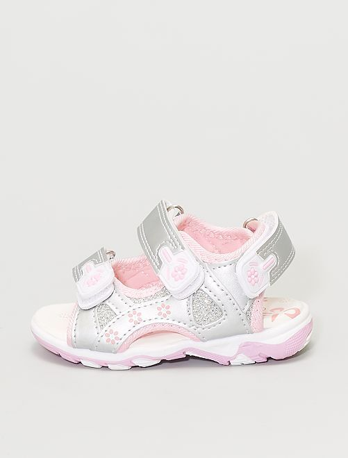 Sandalias plateadas                             plata