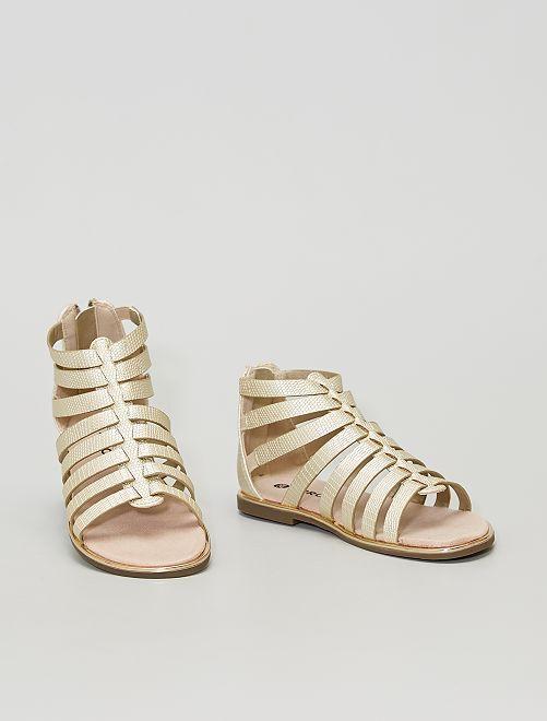 Sandalias romanas doradas                             dorado
