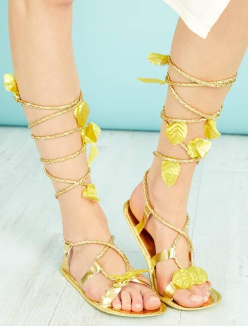 Sandalias romanas                             dorado