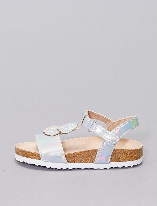 Sandalias sintéticas                             blanco