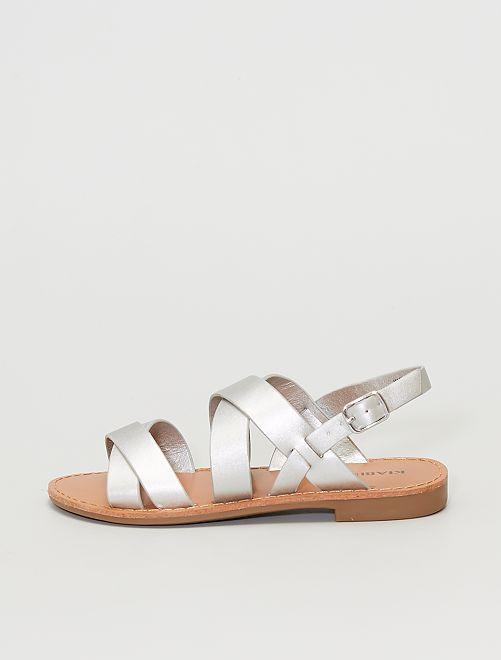 Sandalias sintéticas                                         plata