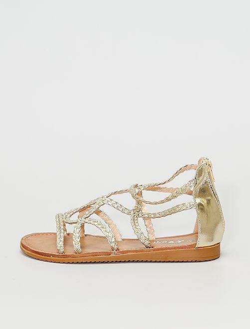 Sandalias trenzadas                                         oro