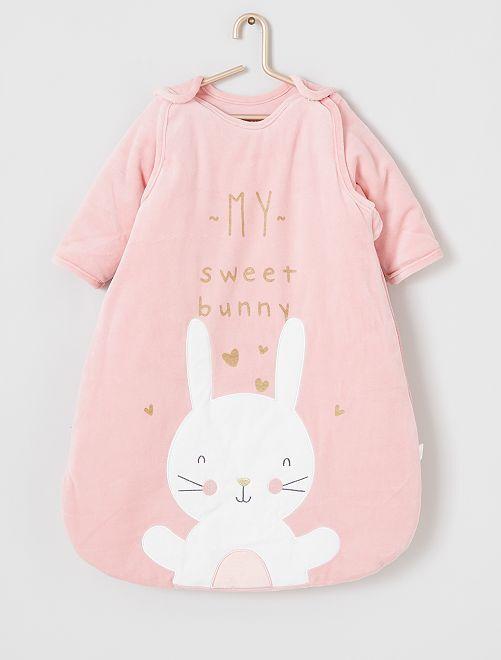 Saquito abrigado para bebé                             conejo